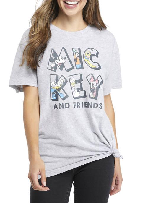 Disney® Juniors Short Sleeve Side Knot Graphic T-Shirt