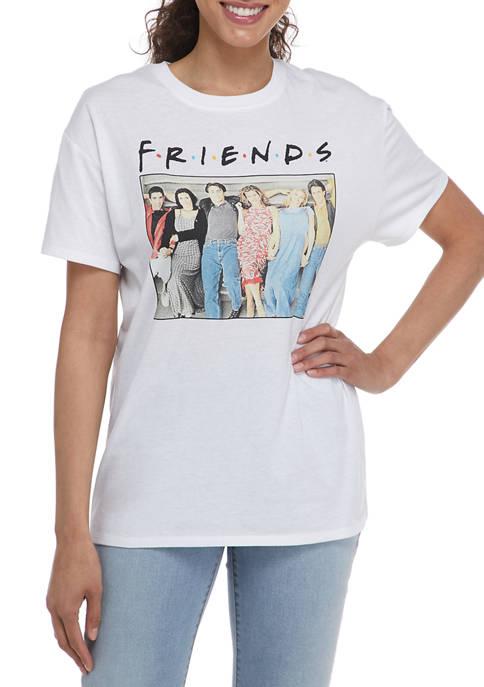 Friends Juniors Short Sleeve Crew Neck Graphic T-Shirt