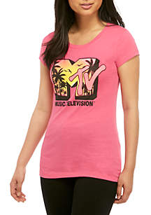 Short Sleeve Crew Neon Graphic T Shirt