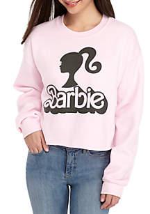 Long Sleeve Barbie® Crop Sweatshirt