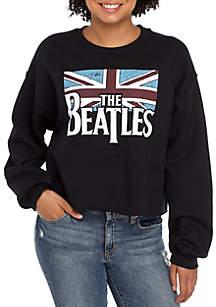 Long Sleeve Beatles Crop Sweatshirt