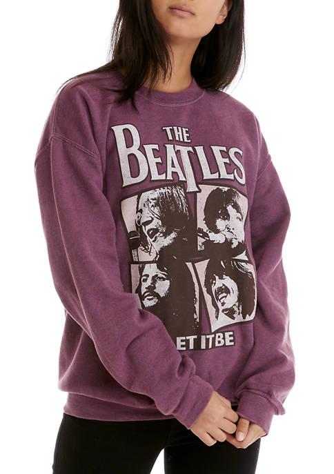 Juniors Fleece Beatles Graphic Sweatshirt