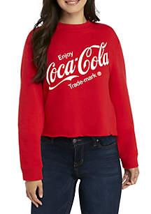 Long Sleeve Coke Crop Sweatshirt