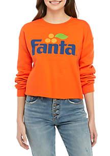 Coca-Cola Long Sleeve Crop Fanta Graphic Sweatshirt