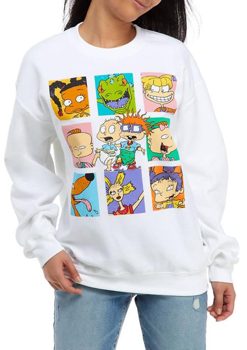 nickelodeon Juniors Long Sleeve Fleece Rugrats Sweatshirt