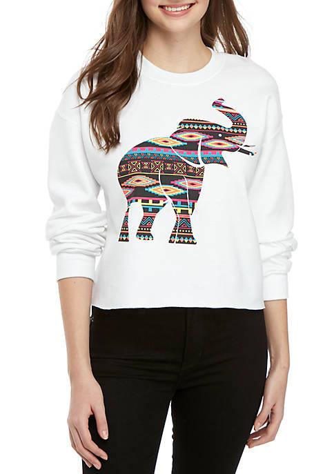 Cold Crush Long Sleeve Graphic Elephant Sweatshirt