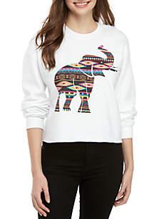 Long Sleeve Graphic Elephant Sweatshirt