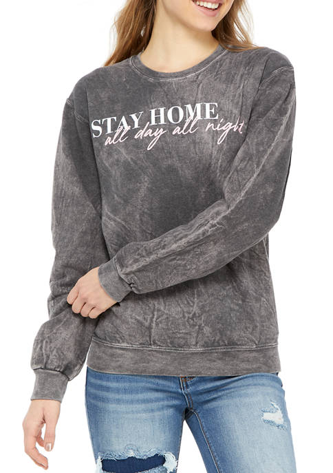 Cold Crush Juniors Long Sleeve Fleece Stay Home