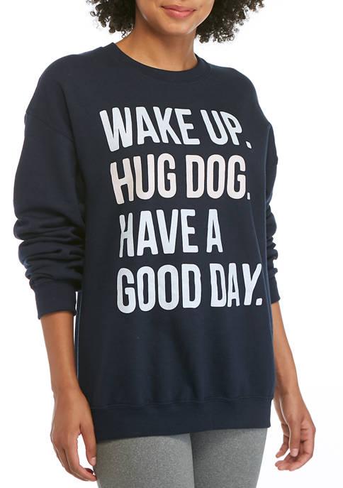 Cold Crush Juniors Yummy Fleece Hug Dog Sweatshirt