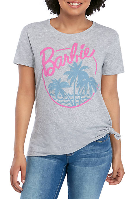 Barbie Short Sleeve Side Tie Graphic T Shirt