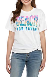 c3363af0 ... Cold Crush Short Sleeve Side Knot Beach Por Favor Graphic T Shirt