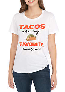 Cold Crush Short Sleeve Side Knot Taco Graphic T Shirt