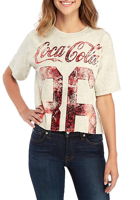 Coca-Cola Short Sleeve Skimmer Foil Graphic T Shirt