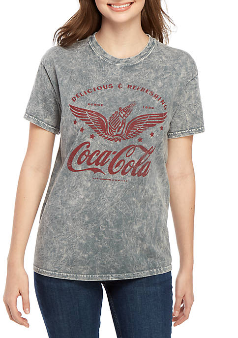 Coca-Cola Short Sleeve Washed Coca Cola Wings Graphic
