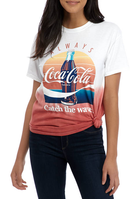 Coca-Cola Juniors Short Sleeve Side Knot Coke Ombre
