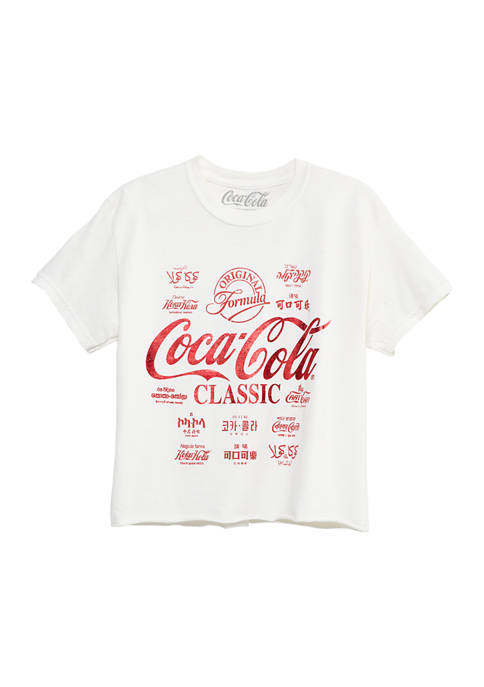 ACDC Juniors Short Sleeve Coca-Cola Skimmer Graphic T-Shirt