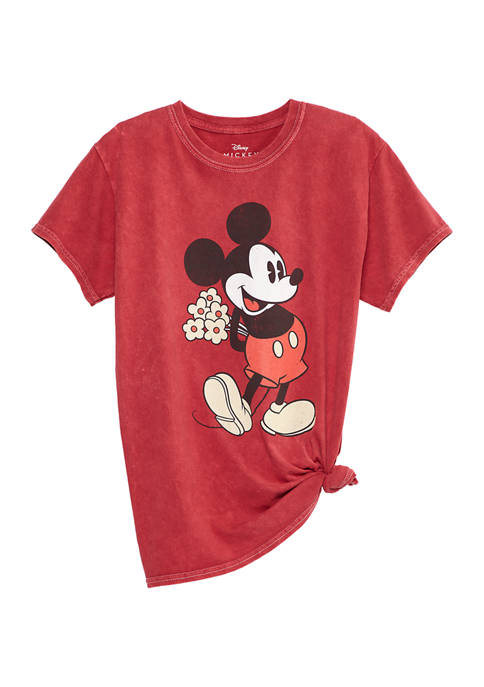 ACDC Juniors Short Sleeve Mickey Mouse Side Knot