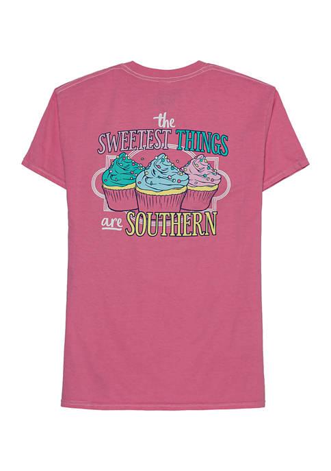 ACDC Juniors Short Sleeve Cupcake Graphic T-Shirt