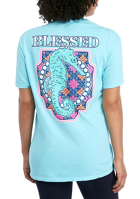 Benny & Belle Short Sleeve Blessed Seahorse T