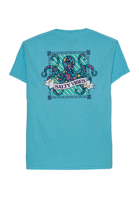 Short Sleeve Octopus Salty Vibes Graphic Tee