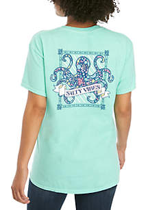 Benny & Belle Short Sleeve Octopus Salty Vibes Graphic Tee