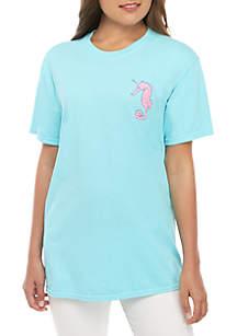 Benny & Belle Short Sleeve Ultra Rare Seahorse Graphic T-Shirt