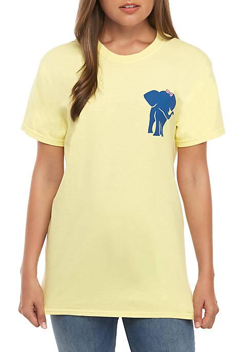 Short Sleeve Elephant Kindness Graphic T-Shirt