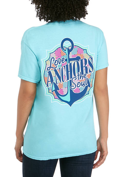 Benny & Belle Juniors Short Sleeve Love Anchors