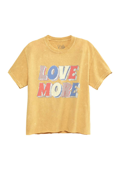 ACDC Juniors Short Sleeve Love More Skimmer Graphic