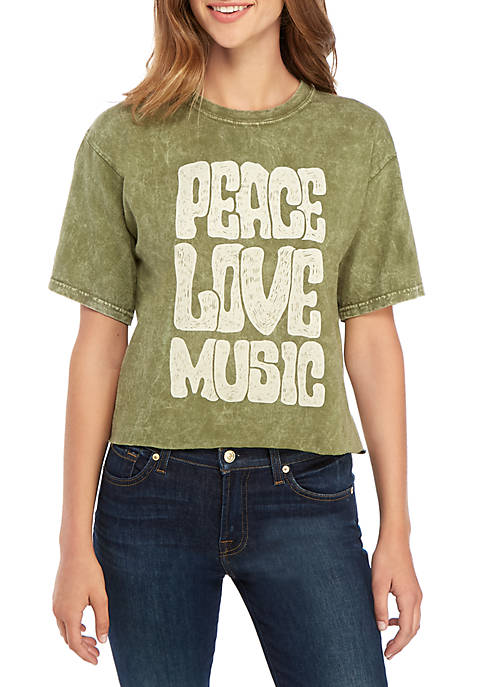 Cold Crush Short Sleeve Skimmer Peace Love Music
