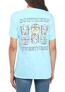 Short Sleeve Southern Sweetness Pineapples T-Shirt