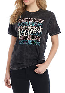 Cold Crush Short Sleeve Saturday Vibes Graphic T Shirt