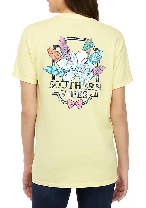 Benny & Belle Short Sleeve Southern Vibes Flower