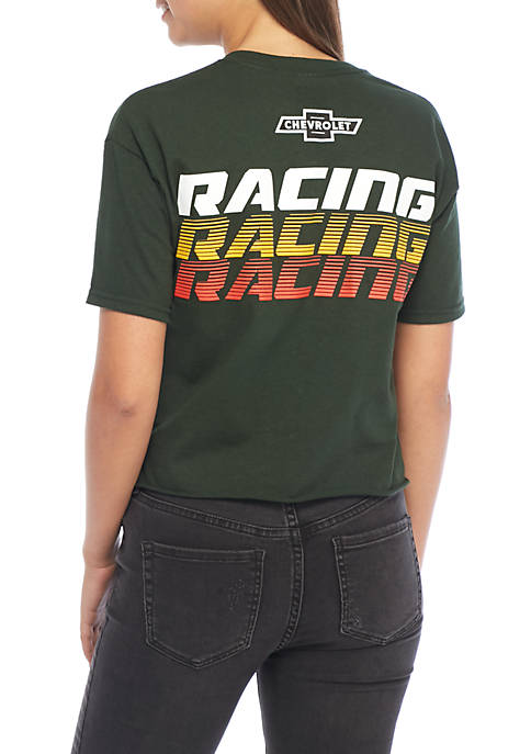 Short Sleeve Racing Tee With Check