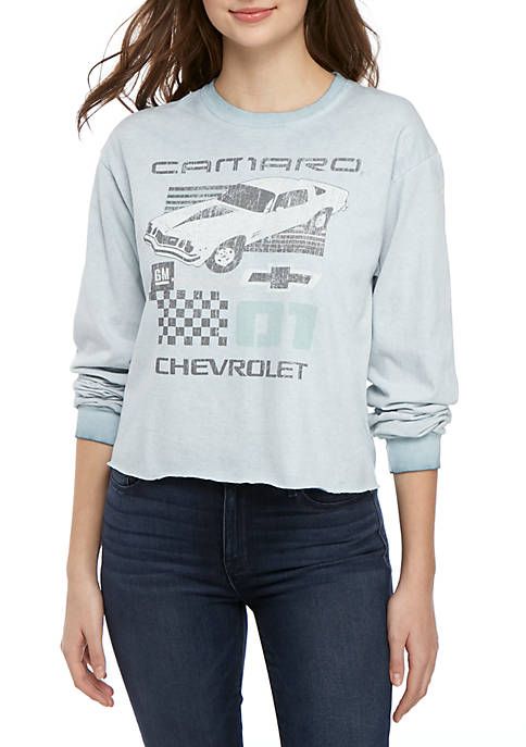 GM Long Sleeve Skimmer Camaro Graphic Top