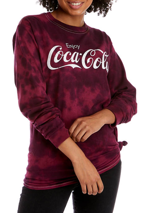 Coca-Cola Juniors Long Sleeve Side Tie Top