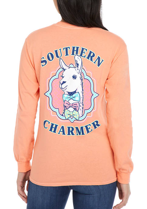 Juniors Long Sleeve Southern Charmer Graphic T-Shirt