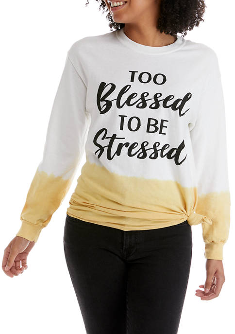 Juniors Side Knot Blessed Graphic Top