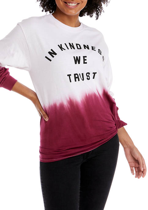 Cold Crush Juniors Long Sleeve Kindness Side Knot