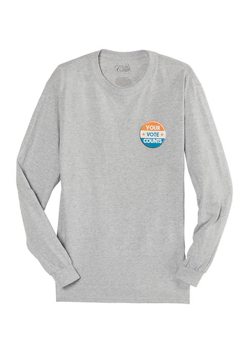 Juniors Your Vote Counts Long Sleeve T-Shirt