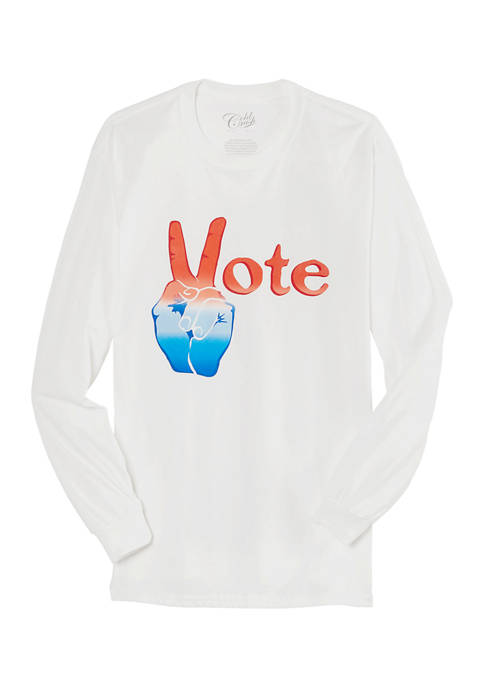 Cold Crush Juniors Long Sleeve Vote Graphic T-Shirt