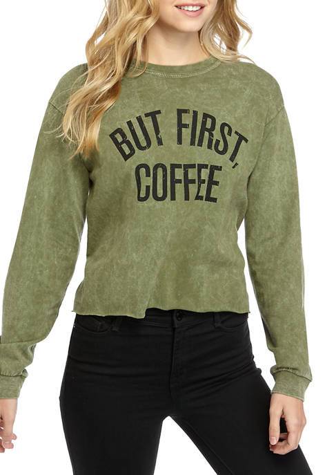 Cold Crush Juniors Long Sleeve Washed Skimmer But
