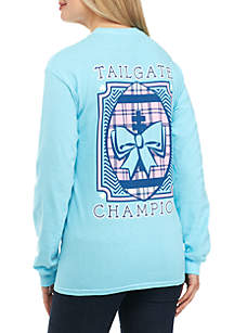 Long Sleeve Tailgate Champion Football Tee