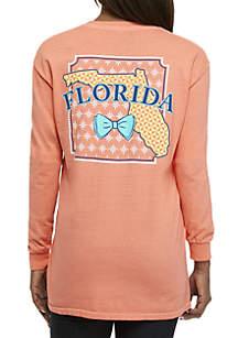 Florida Bow Long Sleeve Tee