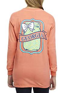 Georgia State Mason Jar Long Sleeve Tee