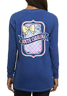 South Carolina Mason Jar Long Sleeve Graphic Tee