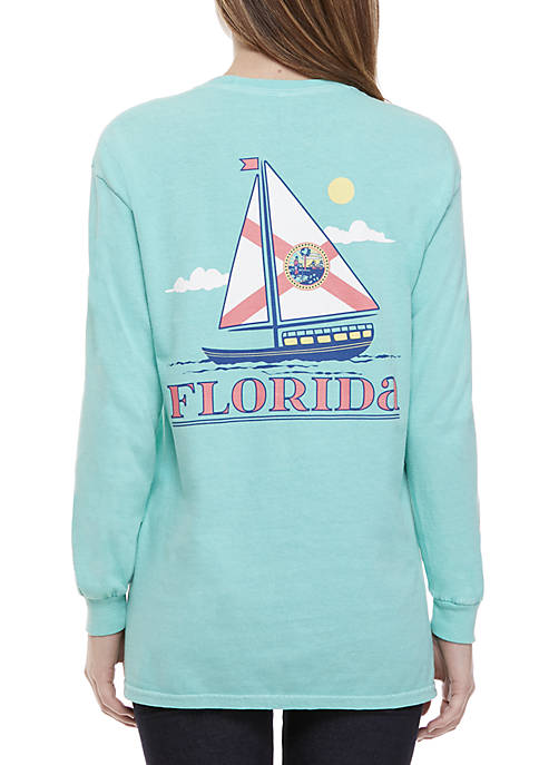 Benny & Belle Florida Sailboat Long Sleeve Graphic
