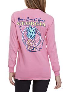 Georgia Pineapple Long Sleeve Tee