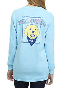 Long Sleeve Shirt with Dog Graphic