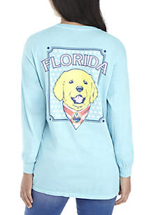 Long Sleeve Florida Graphic Print Shirt
